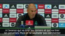 Real Madrid - Zidane : ''Nous savons à l'avance qui va tirer les penalties''