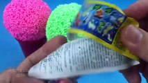 Foam Clay Ice Cream Surprise Eggs Mickey Mouse Superman Inside Out Captain America The Good Dinosaur