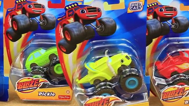 Blaze and the Monster Machines NEW Diecast Cars Toy Review Blaze & Darrington Jump a Sand Dune Hill