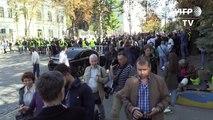 Ukraine: Mikheïl Saakachvili s'adresse à ses partisans à Kiev