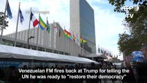 Venezuela FM rejects 'racist' Trump threats