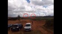 Lors d'un exercice militaire, un hélicoptère Russe tire un missile accidentellement.
