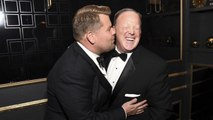 James Corden Jokes About Sean Spicer Photo at Emmys, Admits He's 'Disappointed' By The Photo | THR News