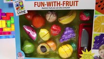 LEARN Fruit Names with Velcro Fruit Cutting Toy by Small World Living Fun-With-Fruit!