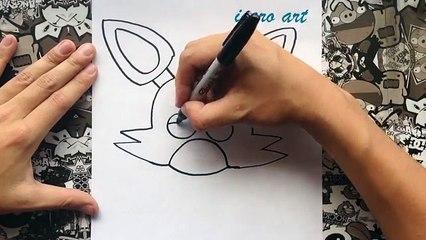 Como dibujar a foxy paso a paso   how to draw foxy step by step