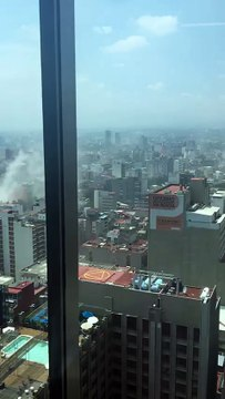 Mexique : les dégâts du séisme vu d'une tour