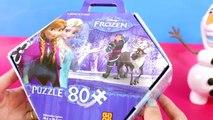 Frozen - Quebra Cabeça Brinquedos da Disney Toys Juguetes Princesas Anna e Elsa em Português
