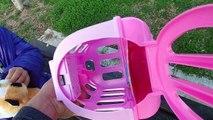 Oyuncak kedi ile parkta oyun keyfi , eğlenceli çocuk videosu