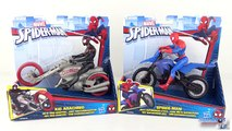 Figurines Spider-Man Moto Kid Arachnid Marvel Jouet Hasbro Toy Review Unboxing Super Heros