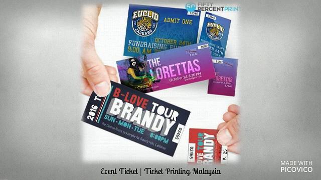 Event Ticket Printing | Ticket Printing Malaysia  |Event Ticket | 50Percent Print