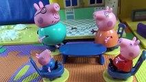 Peppa Pig en français. Peppa Pig et la neige. Peppa Pig avec su famille font il bonhomme de neige