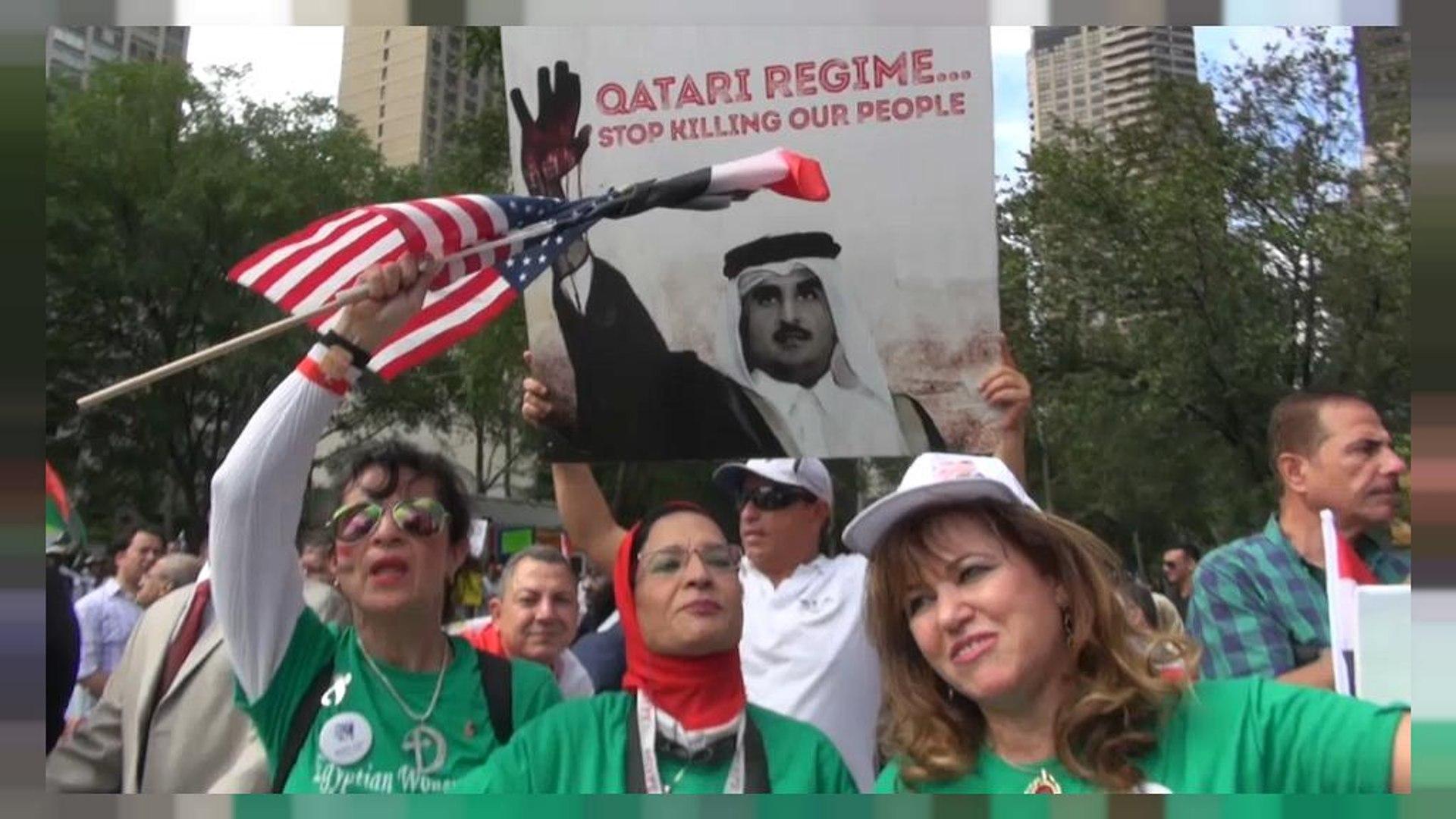 Протесты у штаб-квартиры ООН в Нью-Йорке