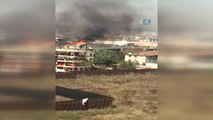 Sultanbeyli'de 5 Katlı Bir Binanın Çatı Katı Alev Alev Yandı