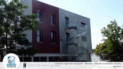 Location logement étudiant - Béziers - Résidence Habitat Jeunes