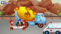 Historieta sobre máquinas de bomberos todos los pequeños bomberos extinguen incendios fila serie sacudida