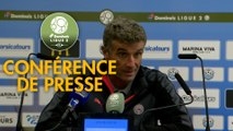 Conférence de presse Tours FC - Nîmes Olympique (0-4) : Gilbert  ZOONEKYND (TOURS) - Bernard BLAQUART (NIMES) - 2017/2018