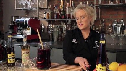 Metaxa Sangria - Kathy Casey's Liquid Kitchen - Small Screen