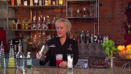 Cherry Basil Collins - Kathy Casey's Liquid Kitchen - Small Screen