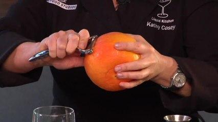 Grapefruit Negroni Cocktail - Kathy Casey's Liquid Kitchen - Small Screen