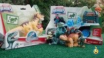 Jurassic World Toys Playskool Heroes Dino Tracker 4X4 & Dinosaur Velociraptor Raptor Figure
