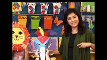 How to make Elephant Paper Plate Party Masks - Paper Art and Craft Ideas (English)