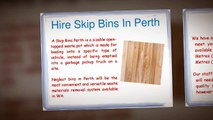 Hire Skip Bins In Perth