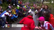 Cyclisme : Un spectateur court derrière Tony Martin et se fait plaquer