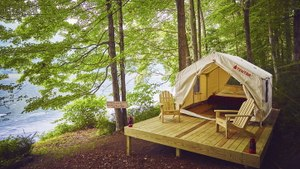 We Tried The Ridiculously Luxurious Airbnb Of Camping