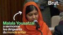 Malala sermonne les leaders du monde entier