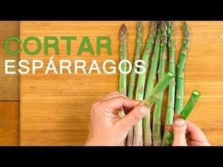 Cómo cortar ESPÁRRAGOS VERDES | TRUCO de cocina
