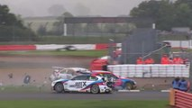 Collard Burns Jordan Big Crash 2017 BTCC Silverstone Race 1