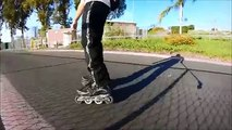 Inline Skating: How To Brake On Inline Skates Tutorial / 3 City Skating Stops (Narrated)