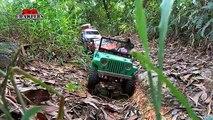 12 RC Trucks Scale offroad 4x4 adventures at Tampines Quarry scx10 Jeep Brute FJ Cruiser Sawback