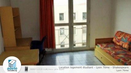 Location logement étudiant - Lyon 7ème - Shakespeare