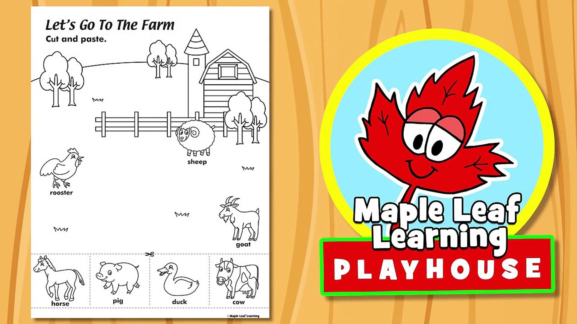 Farm Animal Activity for Kids | Maple Leaf Learning Playhouse