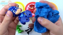 PJ Masks Play doh Learn Colors Disney Romeo,Gekko,Catboy,Jr Owlette Toys Surprises Compila