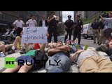 End Gaza Genocide! Finkelstein among arrested at pro-Palestine rally in NY