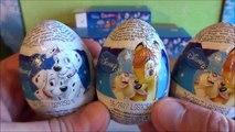 Disney Dumbo & Bambie - 101 Dalmatians 9 Surprise Eggs Xmas Toys Huevos Sorpresa ウォルト・ディズニー