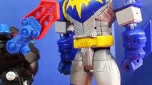 Imaginext Transforming Batbot Review Comparing Old Vs. New BatBot Robot Batman Battle