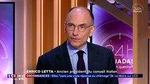 L'ancien Pdt du Conseil des ministres italien Enrico Letta, Pdt de l'Institut Jacques Delors, invité de David Pujadas