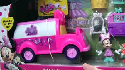 Disney Minnie Mouse Happy Helpers! Minnies Happy Helpers Van! Mickey and The Roadster Racers TOYS