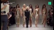 Au défilé Versace de Milan, Carla Bruni et des top models des années 90 enflamment le podium