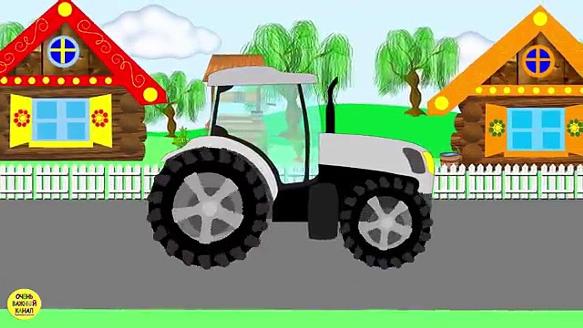 Трактор и овощи. Понятия: много и мало. Развивающие мультики про машинки