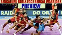 PKL 2017: Bengaluru Bulls lock horns with Bengal Warriors, Match preview | Oneindia News