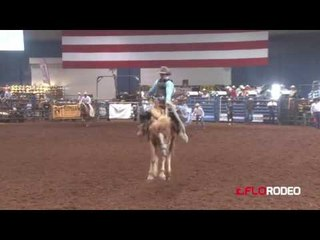Dylan Scofield 75 saddle bronc at National Little Britches Finals 2017