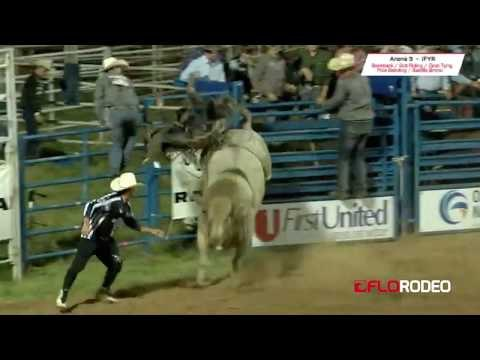 83.5 bull ride Stetson Wright at 2017 International Finals Youth Rodeo