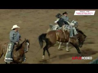 83.5 Stetson Wright saddle bronc ride at International Finals Youth Rodeo 2017