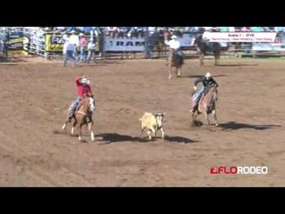 Chance and Rance team roping at International Finals Youth Rodeo 2017