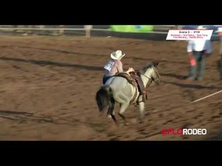 Sarah Griswald goat tying at International Finals Youth Rodeo 2017