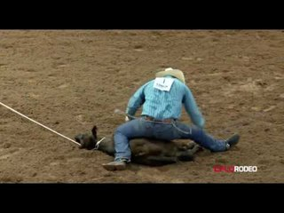 Tie-down Roping at the American Junior Rodeo Association
